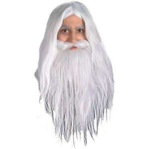 【ポイント最大29倍●お買い物マラソン限定!エントリー】Gandalf Wig+クマ 熊d Set Lord of the Rings ロードオブザリングロードオブザリング 大人用 Men ホワイトAcsry ハロウィン コスチューム コスプレ 衣装 変装 仮装
