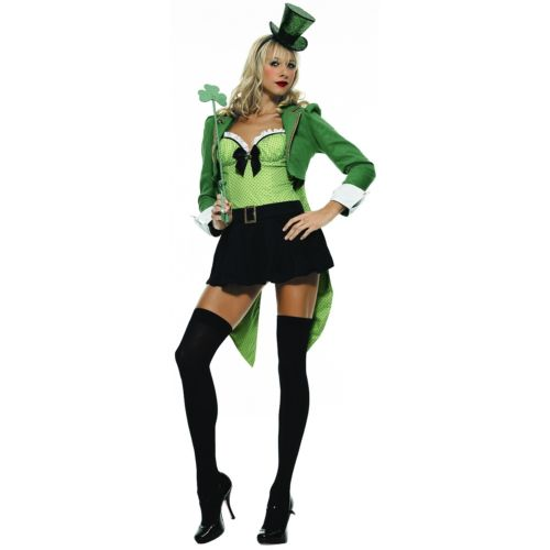 Clover Leprechaun 大人用 セクシー Irish ガール St Patricks Day クリスマス ハロウィン コスチューム コスプレ 衣装 変装 仮装