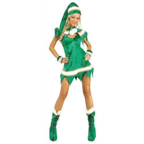 セクシー Elf 大人用 レディス 女性用 Santa Helper クリスマス Outfit ハロウィン コスチューム コスプレ 衣装 変装 仮装
