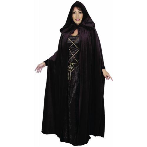 Cloak Velvet Hooded Cape Medieval RenaissanceLARP ハロウィン コスチューム コスプレ 衣装 変装 仮装