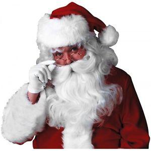 Deluxe Santa Claus Wig & クマ 熊d Set アクセサリー 大人用 クリスマス クリスマス ハロウィン コスチューム コスプレ 衣装 変装 仮装