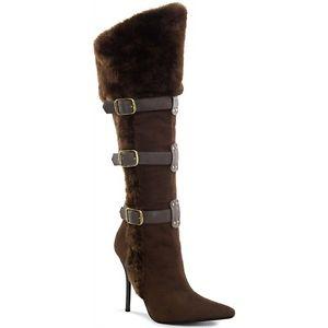 レディス Wear コスチューム 女性用 Brown Viking Boots High Heel シューズ 靴 ハロウィン Faux Fur Trim& イブryday Wear ハロウィン コスチューム コスプレ 衣装 変装 仮装, カタノシ:7d9cdaca --- officewill.xsrv.jp