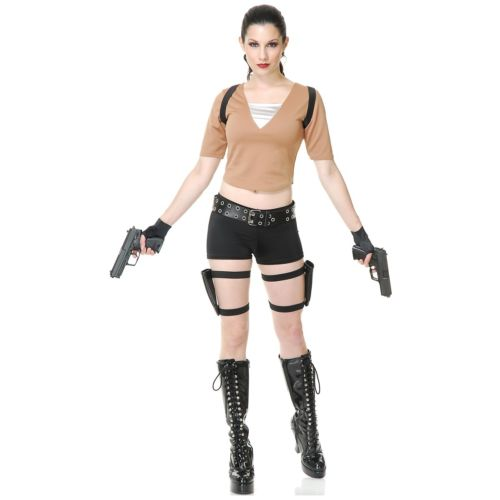 Tomb Raider 大人用 Lara Croft セクシー ハロウィン コスチューム コスプレ 衣装 変装 仮装