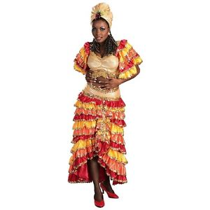 Deluxe Rumba ガール 大人用 レディス 女性用 Samba Tropicalismo Carnivale Spanish Latin ハロウィン コスチューム コスプレ 衣装 変装 仮装