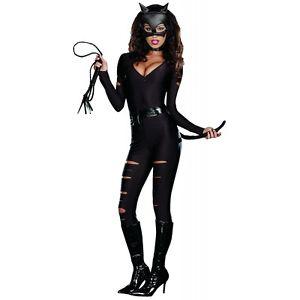 【全品ポイント5倍】Night Prowler 大人用 Catwoman Catsuit ブラック Cat クリスマス ハロウィン コスチューム コスプレ 衣装 変装 仮装