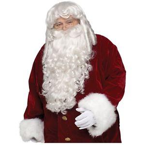 Super Deluxe Santa Claus Wig & クマ 熊d Set 大人用 男性用 メンズ クリスマス アクセサリー クリスマス ハロウィン コスチューム コスプレ 衣装 変装 仮装