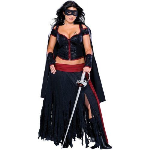 Lady Zorro プラスサイズ 大きいサイズ Senorita 大人用 レディス 女性用 Zorro セクシー 変装 Mexican Senorita Bandita ハロウィン コスチューム コスプレ 衣装 変装 仮装, 中魚沼郡:a2396f70 --- officewill.xsrv.jp