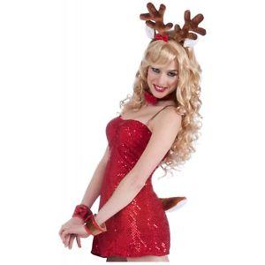 Santa's Reindeer アクセサリー Kit 大人用 セクシー Fun クリスマス Set クリスマス ハロウィン コスチューム コスプレ 衣装 変装 仮装