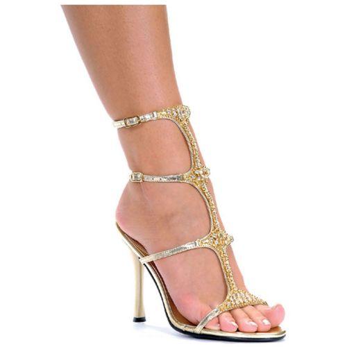 Michelle Greek 女神 Roman グラディエーター Gold High Heel Sandal Pumpsシューズ 靴 クリスマス ハロウィン コスチューム コスプレ 衣装 変装 仮装