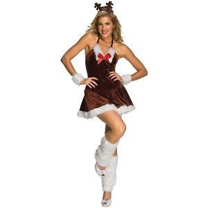 Reindeer 大人用 レディス 女性用 セクシー クリスマス 女神s Rudolph クリスマス ハロウィン コスチューム コスプレ 衣装 変装 仮装