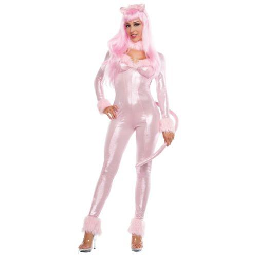セクシー Cat 大人用 Pink Panther Kitty Catsuit クリスマス ハロウィン コスチューム コスプレ 衣装 変装 仮装