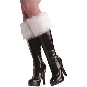 FURRY WHITE BOOT CUFFS アクセサリー 大人用 レディス 女性用 Christmas ハロウィン コスチューム コスプレ 衣装 変装 仮装