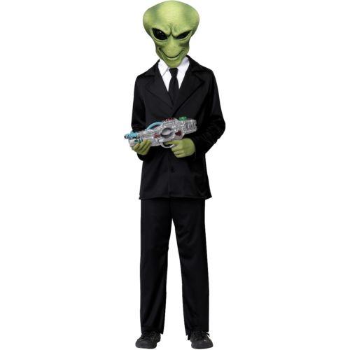【店内全品P5倍】Alien キッズ 子供用 Funny Men in ブラック Martian クリスマス ハロウィン コスチューム コスプレ 衣装 変装 仮装