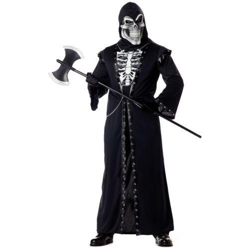 【ポイント最大29倍●お買い物マラソン限定!エントリー】Grim Reaper怖い 大人用 Death スケルトン がいこつ ハロウィン コスチューム コスプレ 衣装 変装 仮装