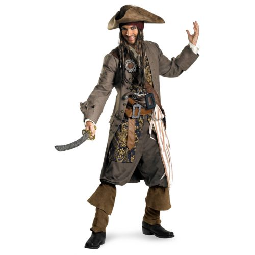 Jack Sparrow ジャックスパロウ 大人用 Deluxe Captain Pirates of the 海賊 パイレーツオブカリビアン クリスマス ハロウィン コスチューム コスプレ 衣装 変装 仮装