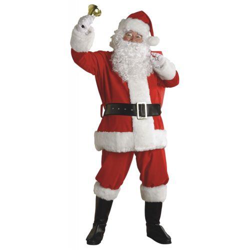 【ポイント最大29倍●お買い物マラソン限定!エントリー】Santa スーツ 大人用 男性用 メンズ Deluxe Plush クリスマス ハロウィン コスチューム コスプレ 衣装 変装 仮装