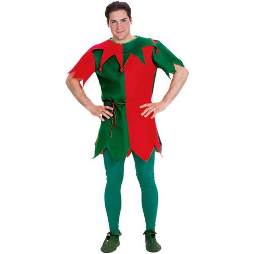 Elfメンズ 男性用 おもしろい クリスマス サンタ Con 大人用 ハロウィン コスチューム コスプレ 衣装 変装 仮装