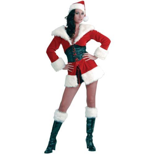 【マラソン全品P5倍】セクシー Santa Outfit 大人用 Mrs Clausレディス 女性用 クリスマス クリスマス ハロウィン コスチューム コスプレ 衣装 変装 仮装