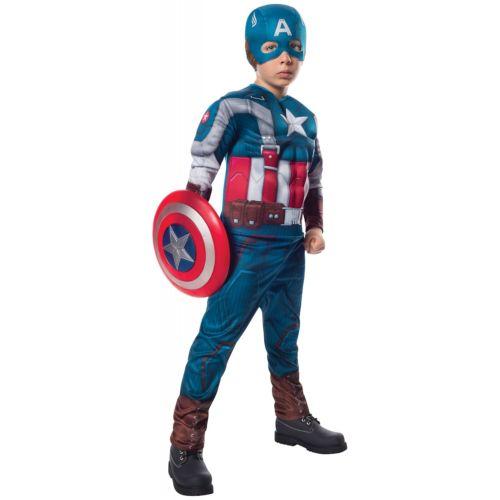 【ポイント最大29倍●お買い物マラソン限定!エントリー】Captain America キャプテンアメリカ 子供用 ガールズ Deluxe Superhero ハロウィン コスチューム コスプレ 衣装 変装 仮装
