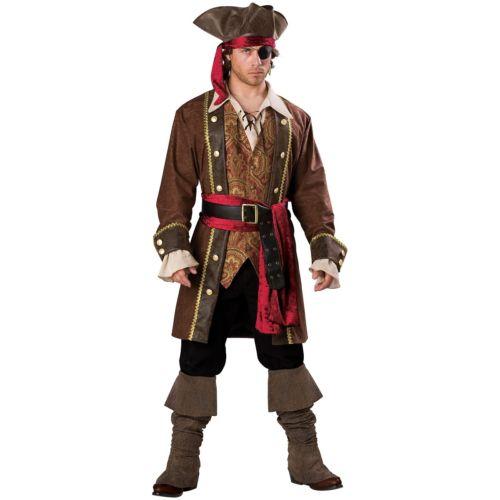 Pirateメンズ 男性用 大人用 Deluxe クリスマス ハロウィン コスチューム コスプレ 衣装 変装 仮装