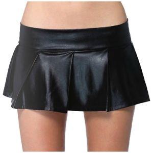 Pleated Lame' スカート Clothing 大人用 ブラック Pleated Mini スカート ハロウィン コスチューム コスプレ 衣装 変装 仮装