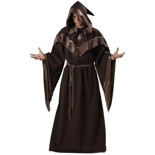 Wizard 大人用 男性用 メンズ Medieval Priest Sorcerer クリスマス ハロウィン コスチューム コスプレ 衣装 変装 仮装
