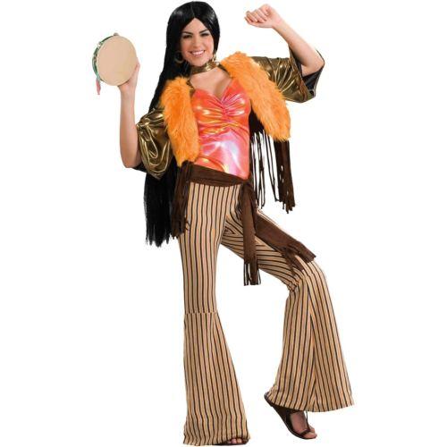 60's Babe 大人用 1960's ヒッピー or 1970's Cher クリスマス ハロウィン コスチューム コスプレ 衣装 変装 仮装