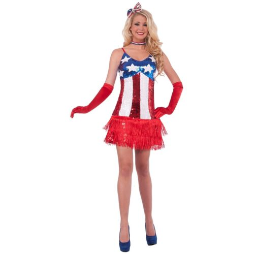 Patriotic Sparkle フラッパー 大人用 4th of July ハロウィン コスチューム コスプレ 衣装 変装 仮装
