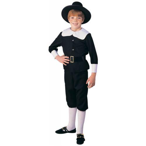 【ポイント最大29倍●お買い物マラソン限定!エントリー】Pilgrim Boy キッズ 子供用 ブラック & ホワイト Thanksgiving ハロウィン コスチューム コスプレ 衣装 変装 仮装