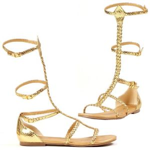 Cairo エジプト 古代エジプト クレオパトラ Greek 女神 グラディエーター Sandal Flatsシューズ 靴 ハロウィン コスチューム コスプレ 衣装 変装 仮装