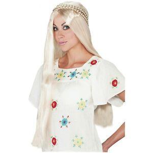 ヒッピー ガール Wig 大人用 レディス 女性用 アクセサリー ハロウィン コスチューム コスプレ 衣装 変装 仮装
