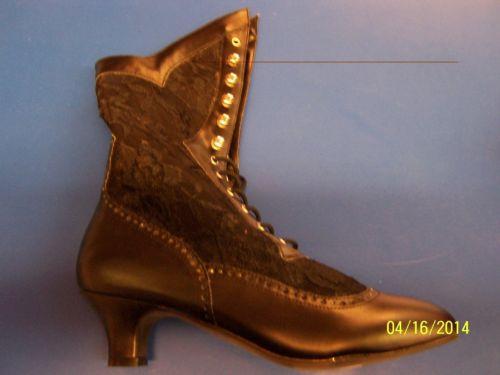 【ポイント最大29倍●お買い物マラソン限定!エントリー】DAME Boots Lace Ankle Victorian Steampunk ブラック アクセサリー ハロウィン コスチューム コスプレ 衣装 変装 仮装