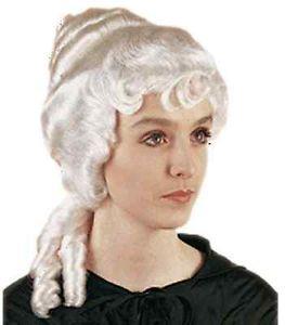 Colonial Woman Wig Powder ホワイト Martha Washington アクセサリー ハロウィン コスチューム コスプレ 衣装 変装 仮装