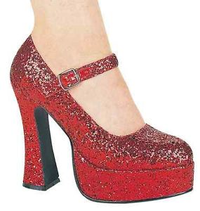 Eden シューズ 靴 Mary Jane Platform Heels Red Glitter アクセサリー ハロウィン コスチューム コスプレ 衣装 変装 仮装