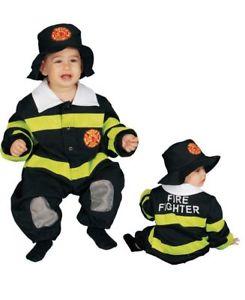 ベイビー Fire Fighter Deluxe Infant Toddlerw/Hat ハロウィン コスチューム コスプレ 衣装 変装 仮装