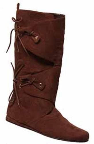 Renaissance Suede シューズ 靴 Faire High Boot Suede 大人用シューズ コスプレ 靴 靴 BROWN ハロウィン コスチューム コスプレ 衣装 変装 仮装, b-shop:ad4c0f06 --- officewill.xsrv.jp