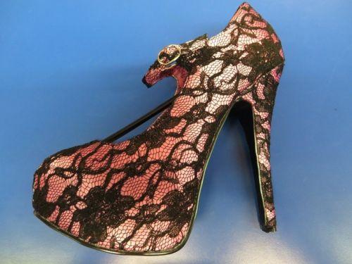 TEEZE 07 Bordello Heels シューズ 靴 Lace Stiletto セクシー アクセサリー 2 COLORS ハロウィン コスチューム コスプレ 衣装 変装 仮装