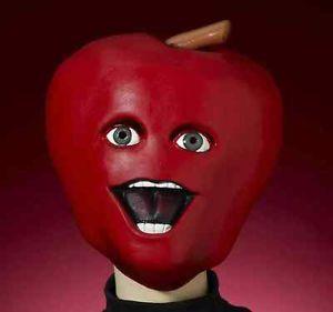 【ポイント最大29倍●お買い物マラソン限定!エントリー】Midget Apple マスク Annoying オレンジ Fruit Little 大人用 アクセサリー ハロウィン コスチューム コスプレ 衣装 変装 仮装
