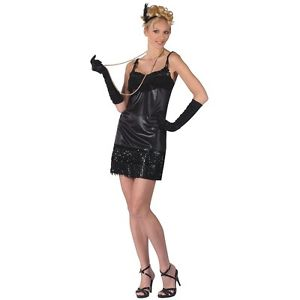 Fabulous フラッパー 大人用 Roaring 20's ブラック ドレス クリスマス ハロウィン コスチューム コスプレ 衣装 変装 仮装