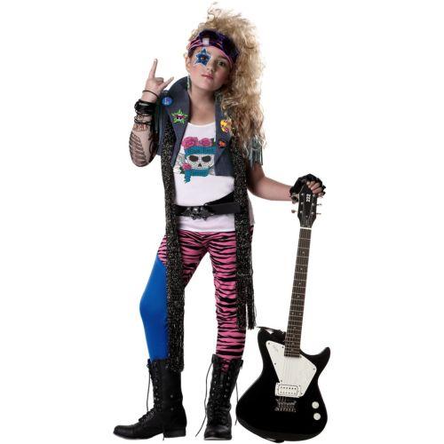 【ポイント最大29倍●お買い物マラソン限定!エントリー】Rock Star キッズ 子供用 Heavy Metal Glam Rocker ガール 80s ハロウィン コスチューム コスプレ 衣装 変装 仮装