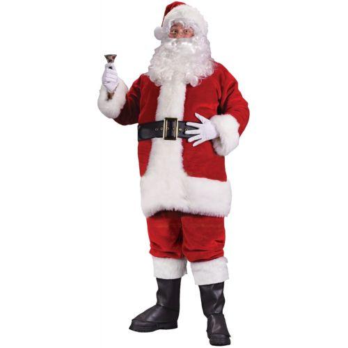 サンタクロース 大人用 男性用 メンズ Deluxe スーツ クリスマス 女神 クリスマス ハロウィン コスチューム コスプレ 衣装 変装 仮装