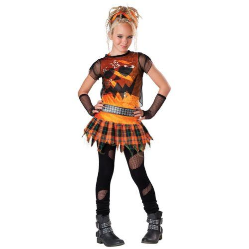 ガール Punk PumpkinTween & キッズ 子供用 ハロウィン コスチューム コスプレ 衣装 変装 仮装