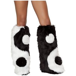 Fur Fluffies Leg Warmers Yin & Yang 仮装 Yeti Fluffies Furry コスチューム Toppers Rave ハロウィン コスチューム コスプレ 衣装 変装 仮装, JaG:8e27659a --- officewill.xsrv.jp