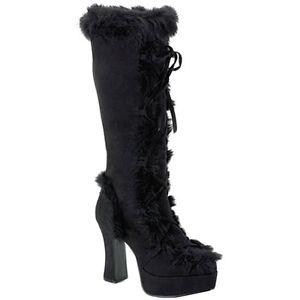 Mammoth-311 ブラック アクセサリー 大人用 レディス 女性用 Mammoth ブラック Fur Boot ハロウィン コスチューム コスプレ 衣装 変装 仮装