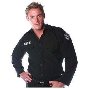 Police ポリス 警察 おまわりさん シャツ 大人用 男性用 メンズ ポリス ポリスマン 警察 おまわりさん ハロウィン コスチューム コスプレ 衣装 変装 仮装
