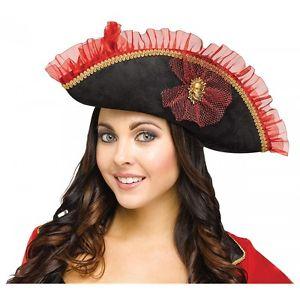 ファンシー Pirate Hat アクセサリー 大人用 レディス 女性用 ハロウィン コスチューム コスプレ 衣装 変装 仮装