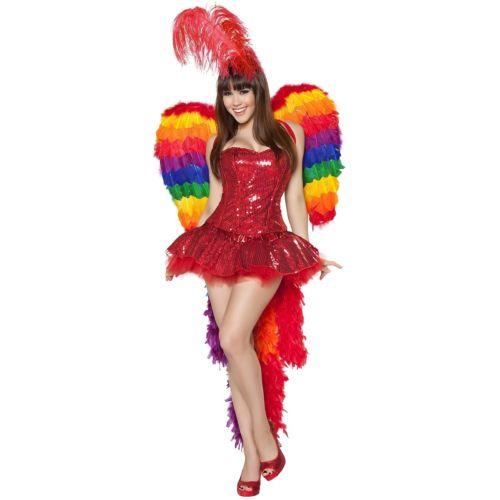 Parrotセクシー 大人用 Bird Las Vegas Showgirl Carnival ハロウィン コスチューム コスプレ 衣装 変装 仮装