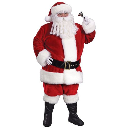 【ポイント最大29倍●お買い物マラソン限定!エントリー】Santa スーツ 大人用 男性用 メンズ Deluxe Crimson クリスマス ハロウィン コスチューム コスプレ 衣装 変装 仮装