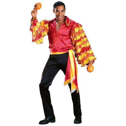 Rumba 大人用 男性用 メンズ Samba Tropicalismo Carnival Spanish Latin クリスマス ハロウィン コスチューム コスプレ 衣装 変装 仮装