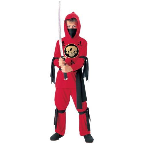 Red 忍者 ニンジャ キッズ 子供用 スーツ クリスマス ハロウィン コスチューム コスプレ 衣装 変装 仮装